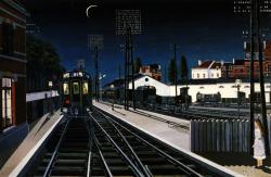 Paul Delvaux, Train in evening