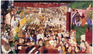 "James Ensor ""Christ's Entry Into Brussels in 1889"""